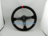 Free Shipping 2014 Hot Specials OMP racing steering wheel / nubuck leather steering wheel / 350mm Car Rally steering wheel