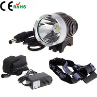 CREE XM-L T6 LED 1800 Lumens 3 Modes Bicycle light bike HeadLight Lamp Light Free shipping