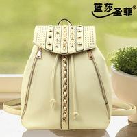 2014 new hot women handbag! Free shipping high quality fashion rivets, chains handbag, shoulder bagsB203