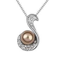 Austria flowers pearl pendant natural elegant flower pearl pendant, holidays gift, bridesmaid wedding, everyday jewelry