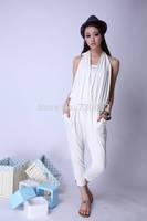 New fashion 2014 Spring summer fashion trend halter-neck tube top one piece harem pants jumpsuit 4 colors