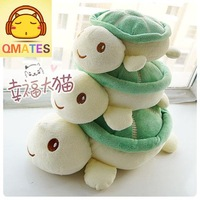 25cm free shipping wholesale stuffed toy plush toy soft baby doll qmates Cute pink toot small green turtle cushion / pillow gift