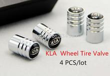 Free Shipping 8PCS Chrome Metal KIA Logo Car Wheel Tire Valve Caps Stem Air For K2 K3 K5 Sportage(China (Mainland))