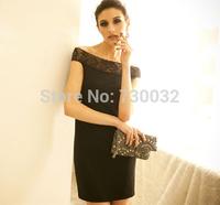 2014 new women sexy sweet shoulder bag hip dress! Something elegant romantic fashion dress sexy lace mini dress