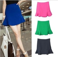 2014 Women Runway Plus Size Skirt European Style High Waist Ball Gown Ruffles Fluffy Mini Short Women's Skirts