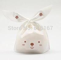 baking supplies lovely rabbit Plastic cake biscuit packaging bag cookie bag 100pcs/lot free shipping