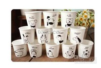 Wholesale - lovely animal Chinese Zodiac Snack cups Ceramic Eco Cup porcelain Mug Coffee Cup milk cup
