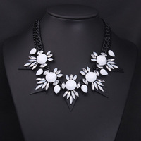 Famous Brand Black Spike Necklace 2014 In New Fashion Jewelry Free Shipping