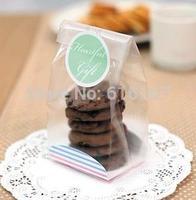 baking supplies translucence Plastic cake biscuit packaging bag cookie bag 100pcs/lot free shipping
