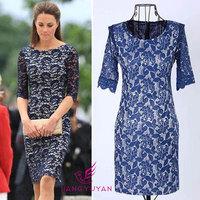 Freeshipping Summer dress 2014 new long-sleeved lace dress sexy temperament Slim Dress for women