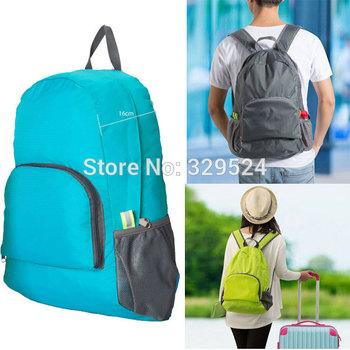 2014 Модный Сплошной 20.5 Litre Men and Женщины Нейлон Folding Travel Backpacks