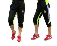 Thin male sports shorts real madrid  soccer training pants capris leg sports capris