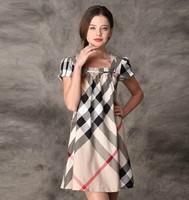 New 2014 Women's Cotton Dress Short Sleeve Knee-Length Solid Appliques Beading Women Summer Casual Dress