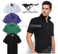 septwolves 2014 new arrival brand t shirts man camisetas men la cotton man's t- shirts male shirts casual men shirt camisa
