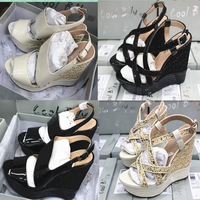 Hot-Selling  Line High Quality Fashion Wedges Sandals For Women Fashion All-Match  Platform Summer Sexy High Heels Shoes