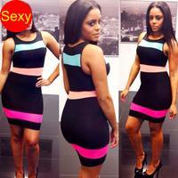 Print dresses  Bodycon dresses 2014 sexy club summer dress tunic bodycon party women clothing atacado roupas femininas