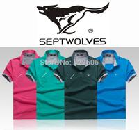 brand t shirt men septwolves 2014 new design man camisetas men la cotton casual men shirt camisa