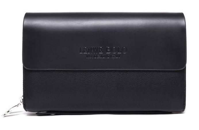 LENWE BOLO New Fashion Genuine Leather Business Men Clutch Bag Wallet Men Top Grace Handbag(China (Mainland))