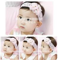 Lovely pink flower baby headband for gift summer 2014 new cheap