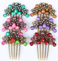 ew Fashion Bridal Hair Accessories Wedding Jewelry Peacock Hair Comb Crystal Bridal Tuck comb hairpin Free Shippin