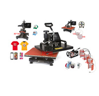 New Design 9 In 1 Combo Heat Press Machine,110V-240V Heat Transfer/Sublimation Machine Can Be Used On Plate/Mug/Cap/TShirt Etc