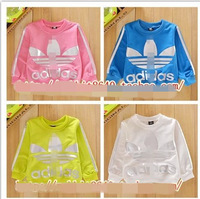 Free shipping 2014 new baby boys and girls children's T-shirt cotton terry pullover sweater Children Sweater Children's clothing