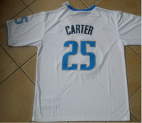 Free Shipping  2013-14  #25 Vince Carter Christmas Jersey, Short Sleeve Basketball Jersey With Big Logo  S-3XL