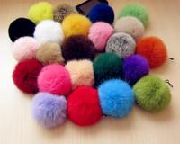 accessories 100% rabbit  fur  mobile phone ornaments Hair ball pendant plush ball decorative key phone chain bag ornaments
