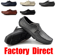 New 2014 summer men genuine leather driver shoes male loafer Driving climbing party Zapatos mies Chaussures Scarpe Fahrer-Schuhe