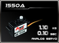 POWER HD HD-1550A,Coreless Motor Analog Servo,Plastic Gear,Torque 1.1KG,speed 0.1 Sec,Compatible FUTABA JR SAVOX