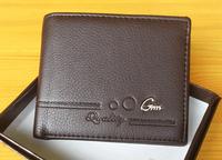 Men PU Wallets New Bifold Credit Card Holder high-grade short Purse card bag Wholesale