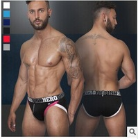 FREE SHIPPING plus size  3pcs/lot sexy men's briefs cotton and modal men's shorts Print strong men's Underwear Wholesale