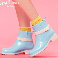 Free Shipping  Rain Boots.special Rain Shoes clear galoshes.retail and wholesale superstar Women's rainboots rb1015