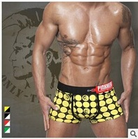 Wholesale FREE SHIPPING plus size  2pcs/lot sexy men's boxers cotton and modal men's shorts Letter punk cool men's Underwear