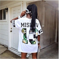 2014 New Arrival Men And Women Hiphop T Shirt Short Sleeve Tee Shirts Brand Misbhv T-shirt 13 Print Tops Plus Size Clothing
