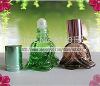 free shipping 10pcs/pack portable colored mini Roll-On Bottle bottle perfume bottle refillable Bottles glass bottle sub bottle