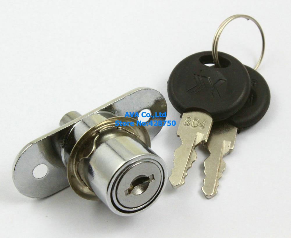 5 Cabinet Showcase Desk Drawer Tool Box Cylinder Cam Lock with Keys