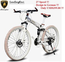 "2 Styles 27 Speed 26"" folding complete Mountain or road Bike Double Brake  Full Shocking Proof Coolest Mountain Bicycle(China (Mainland))"