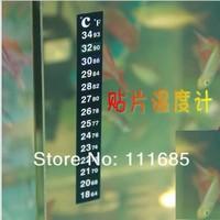 Free Shipping, 10pcs/lot Liquid Crystal Aquarium Thermometer With Aquarium Thermometer Strip And Digital Aquarium Thermometer