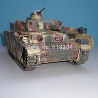 New 2014 paper models tanks 1/25 scale  World War 2 German Pz.Kpfw.IV H Medium  Tank 3d puzzles adults diy Military paper craft