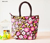 100pcs/lot 2014 new fashion cute waterproof bag handbag printed three small bag women handbag lunch box bag women messenger bags