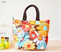 10pcs/lot 2014 new fashion cute waterproof bags printed three small bag women clutch lunch box bag women messenger bags