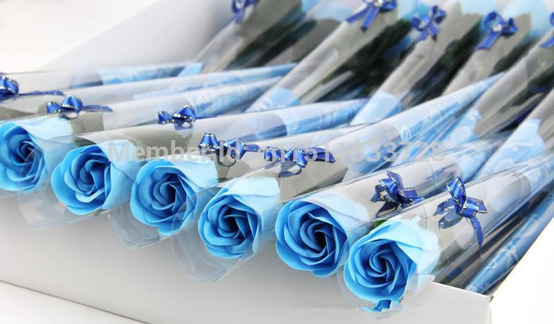 360pcs/lot Free shipping: Soap Rose with ribbon, handmade wedding soap flower, No-fading Hotel/Wedding/Birthday Valantine Gift(China (Mainland))