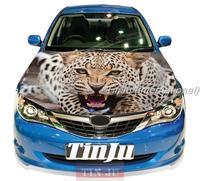 HD Animal Cheetah PVC Self-Adhesive Vinyl Car Hood Stickers Design For All Car Model