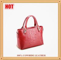 Hot Selling Special Offer European Fashion Brand Design Handbag,High Grade Casual Alligator Cowhide Leather Shoulder Bag B117