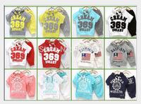 New 2015 Summer child male female child short-sleeve set 100% baby cotton set