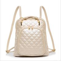 freeshipping 2014 New Quilted women shoulder bag fashion women backpack women messenger bags women leather