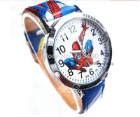 Free Shipping Hot  fashion cartoon spider-man  wirstwatches for children