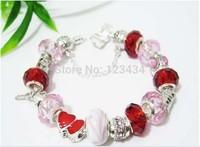 2013 Promotion Hot Sellingchamilia beads crystal charm bracelets.fashion jewelry crystal beads bracelet for woman