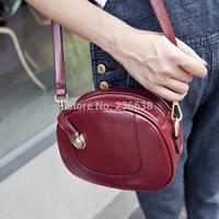 2014 new Korean shoulder bag diagonal women handbags British retro messenger bags burgundy bag packet